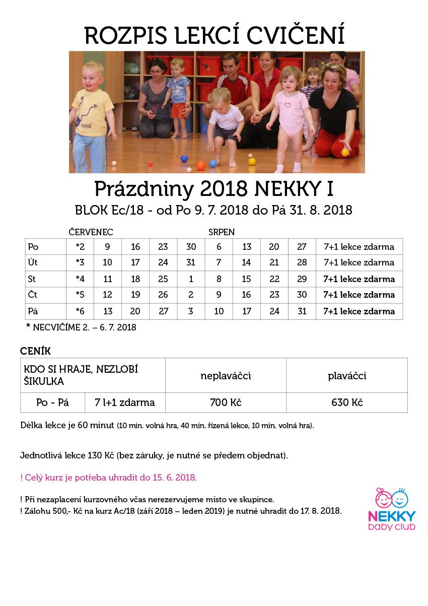 Cvičení prázdniny 2018