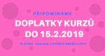 PŘIPOMÍNÁME – DOPLATKY do 15.2.2019